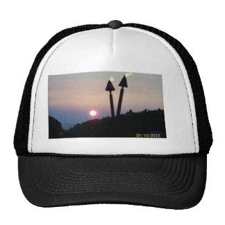 Hawaiian Sunset Luau Gifts Trucker Hats