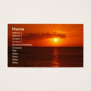 Hawaii travel business cards business card printing zazzle uk hawaiian sunset orange business business card reheart Images