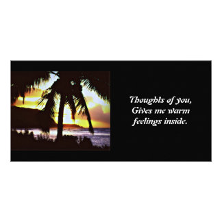 Hawaiian Sunset Photo card