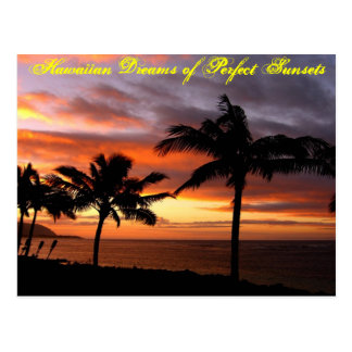 Hawaiian Sunset Postcard - Customised