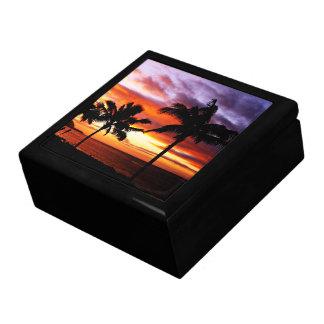 Hawaiian Sunset scene Gift Box