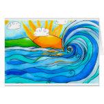 Hawaiian Surf Art - The Big Wave Greeting Card