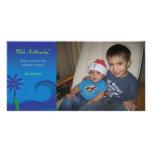 Hawaiian Surf Christmas Photo Card - Horizontal