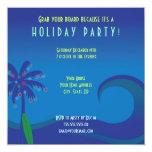 Hawaiian Surf Holiday Party Invitation 13cm X 13cm Square Invitation Card