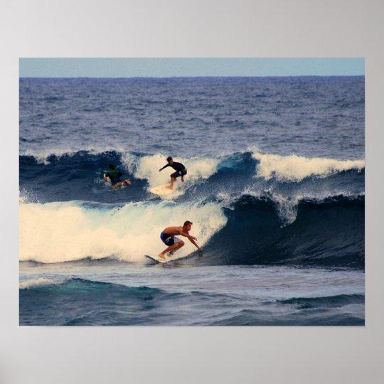 Hawaiian Surfers Print