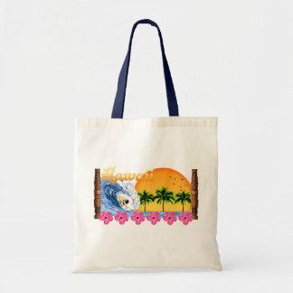 Hawaiian Surfing Tote Bag