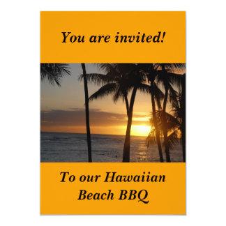 Hawaiian Themed Party Invitation
