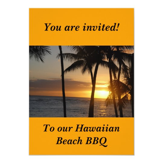 Hawaiian Themed Party Invitation