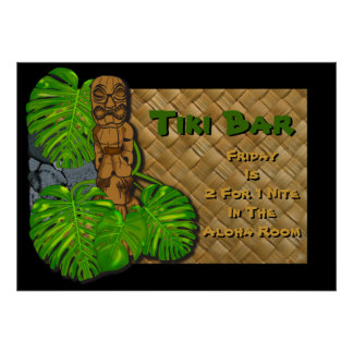 Hawaiian Tiki Bar Poster