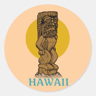 Hawaiian Tiki Classic Round Sticker