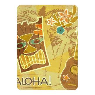 Hawaiian Tiki Mask 13 Cm X 18 Cm Invitation Card