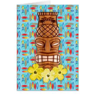 Hawaiian Tiki Mask Card