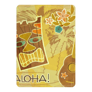 Hawaiian Tiki Mask Card