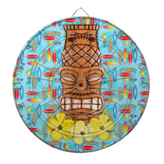Hawaiian Tiki Mask Dartboard With Darts