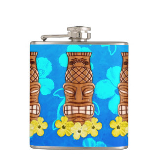 Hawaiian Tiki Mask Hip Flask
