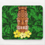 Hawaiian Tiki Mask Mouse Pad