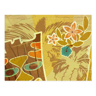 Hawaiian Tiki Mask Postcard