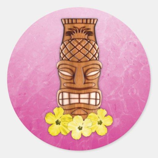 Hawaiian Tiki Mask Sticker