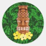 Hawaiian Tiki Mask Stickers