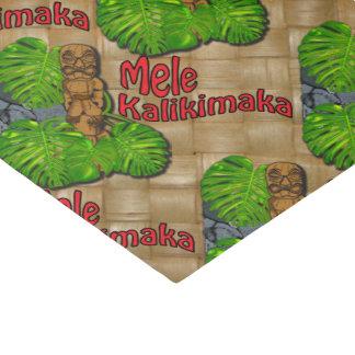 "Hawaiian Tiki Mele Kalikimaka Christmas  10"" X 15"" Tissue Paper"
