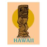 Hawaiian Tiki Post Card