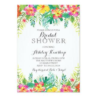 Hawaiian Tropical Bridal shower invitation