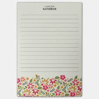 Hawaiian Tropical Flowers - Lined Post-it Notes