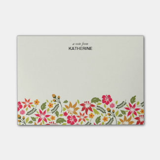 Hawaiian Tropical Flowers Post-it Notes