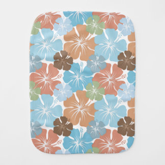 Hawaiian Tropical Hibiscus Flowers Burp Cloth