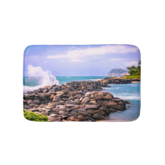 Hawaiian Tropical Island Splash Bath Mat