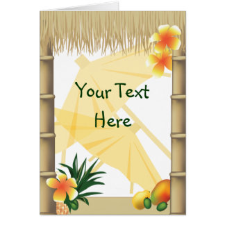 Hawaiian Tropical Luau Party Greeting Card
