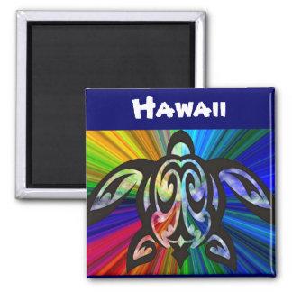 Hawaiian Turtle Honu magnet 2 Inch Square Magnet