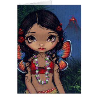 """Hawaiian Volcano Fairy"" Greeting Card"