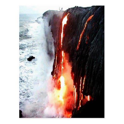Hawaiian Volcano Lava Postcard