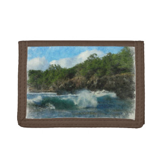 Hawaiian Waters Trifold Wallet