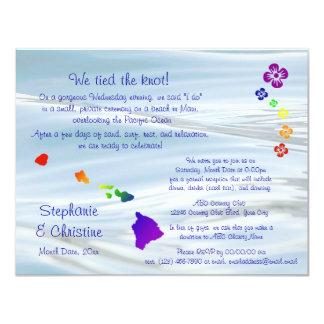 Hawaiian Wedding 11 Cm X 14 Cm Invitation Card