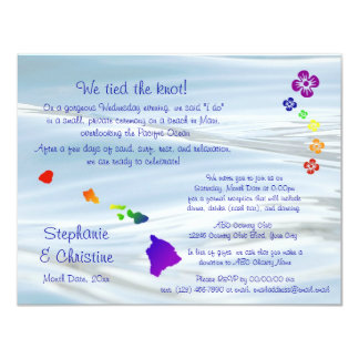 Hawaiian Wedding Card