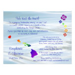Hawaiian Wedding Personalized Announcement