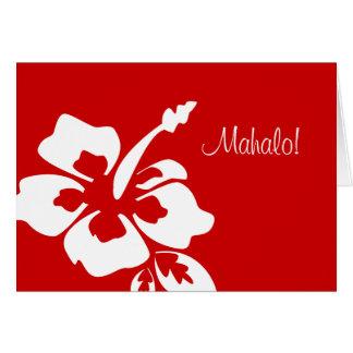 Hawaiian Wedding Thank You Cards Hibiscus Red