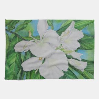 Hawaiian White Ginger Tea Towel