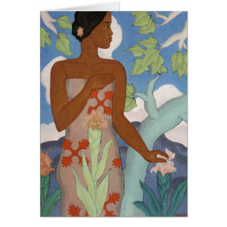 'Hawaiian Woman' - Arman Manookian Card