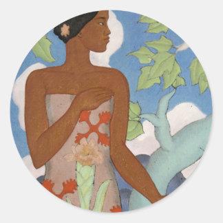 'Hawaiian Woman' - Arman Manookian Sticker