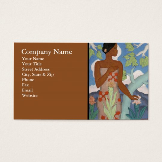 Hawaiian Woman - Business Card