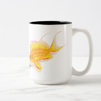 Hawaiian Yellow Anthias, Holanthias fuscipinnis Two-Tone Coffee Mug