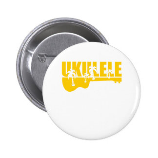 Hawaiin Ukulele 6 Cm Round Badge