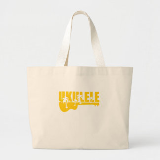Hawaiin Ukulele Large Tote Bag