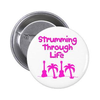 Hawaiin Ukulele tropical surf design 6 Cm Round Badge