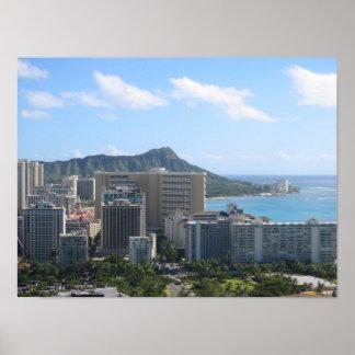 Hawaii's Waikiki and Diamond Head Poster