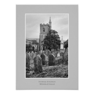 Hawes Church, Yorkshire Dales Poster