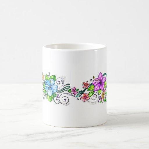 Hawiian Hibiscus Flowers Coffee Mugs
